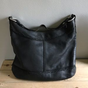 Lucky Black Leather Hobo